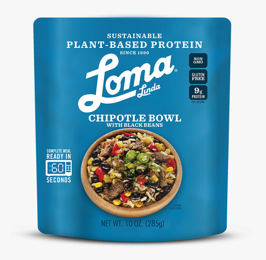 Chipotle Bowl Loma Linda - Loma Linda Chipotle Bowl With Black Beans, HD Png Download, Free Download