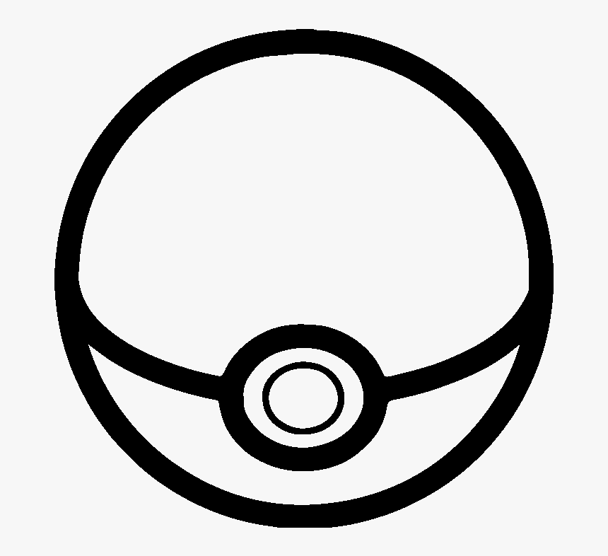 Pokeball Black And White, HD Png Download, Free Download