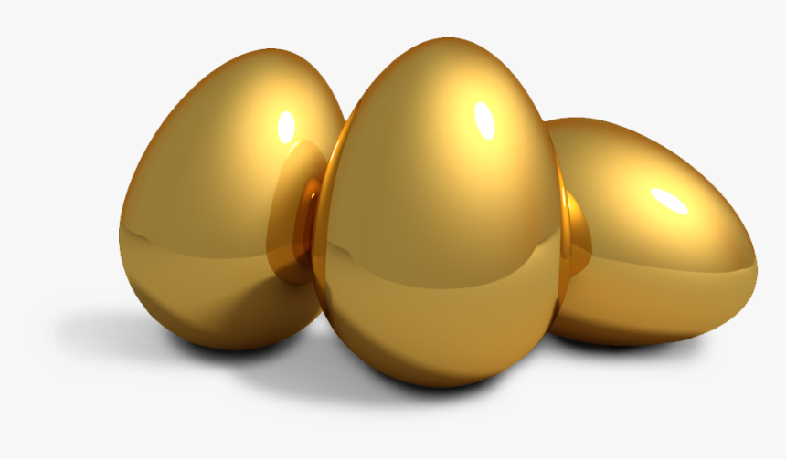 The Goose That Laid The Golden Eggs Hen Duck - Easter Golden Egg Clipart, HD Png Download, Free Download