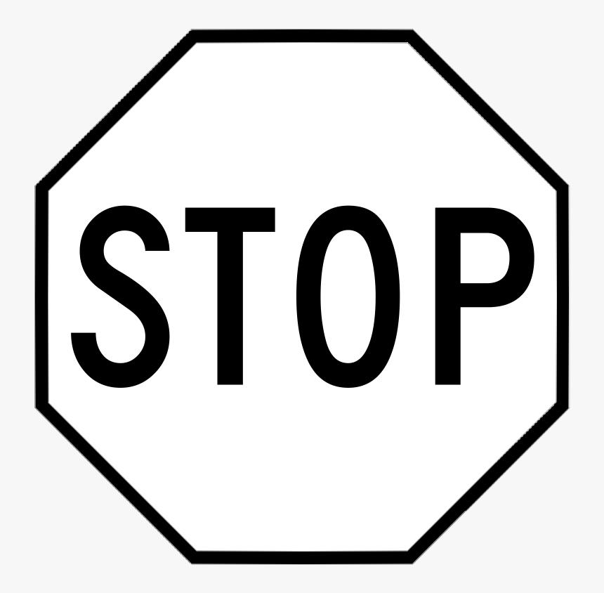 Stop Sign Clip Art Black Stop Sign Hd Png Download Kindpng