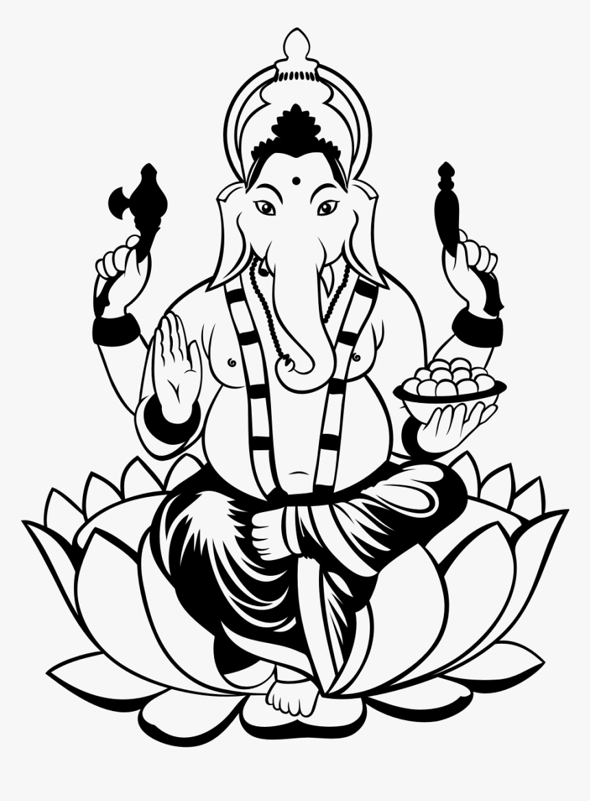 Collection Of Free Drawing Free Ganesha Download On Ganesh Ji Clipart Png Transparent Png Kindpng