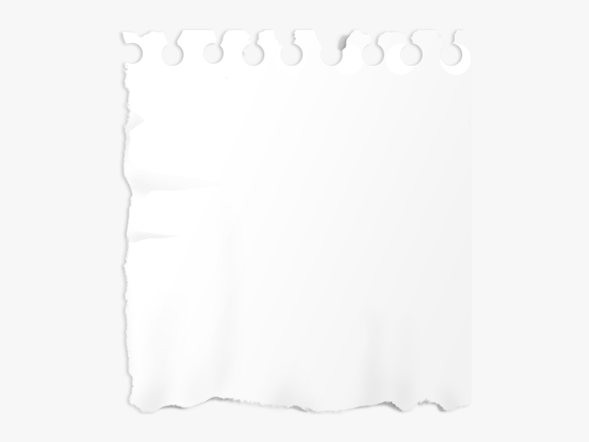 Ripped White Paper Png - Torn Paper Note Png, Transparent Png, Free Download