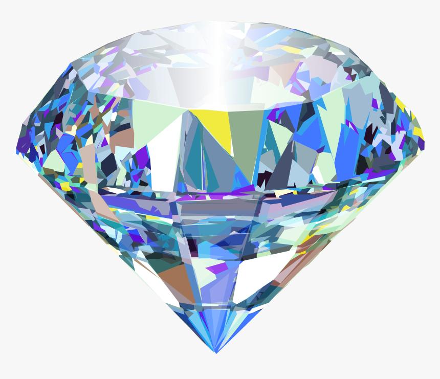 Diamond Color Clip Art - Diamond Png, Transparent Png, Free Download