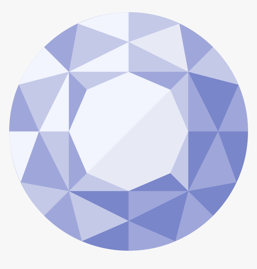 Diamond Png Icon - Round Diamond Vector Png, Transparent Png, Free Download