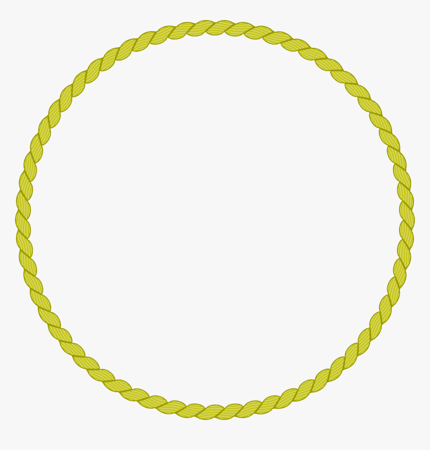 Round Rope Border 2 Clip Arts - Gold Rope Circle Clipart, HD Png Download, Free Download