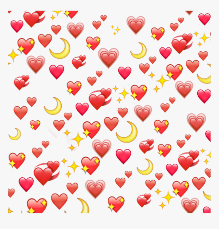 Transparent Red Moon Clipart - Black Heart Emoji Background, HD Png Download, Free Download
