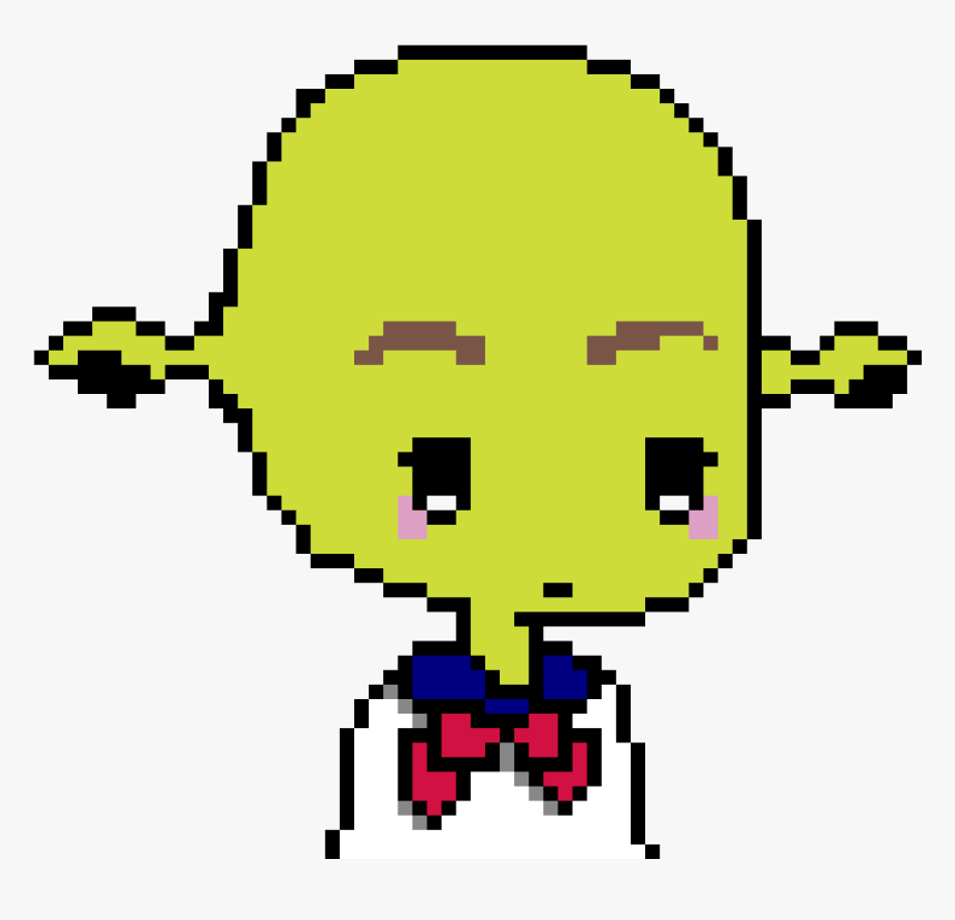 Is Shrek School Girl - Pixel Art Girl Base, HD Png Download, Free Download