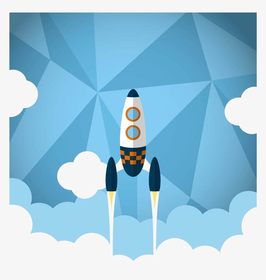 Transparent Cartoon Rocket Png - Rocket Launch Flyer, Png Download, Free Download