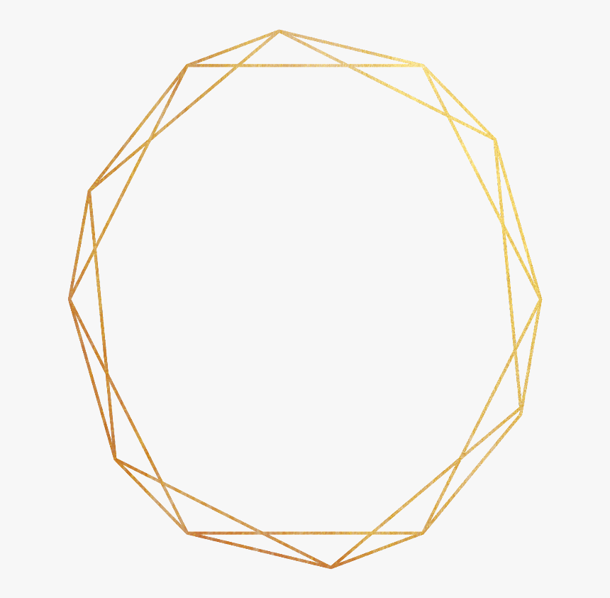 #freetoedit #ftestickers #gold #frame #border #geometric - Gold Geometric Frame Png, Transparent Png, Free Download