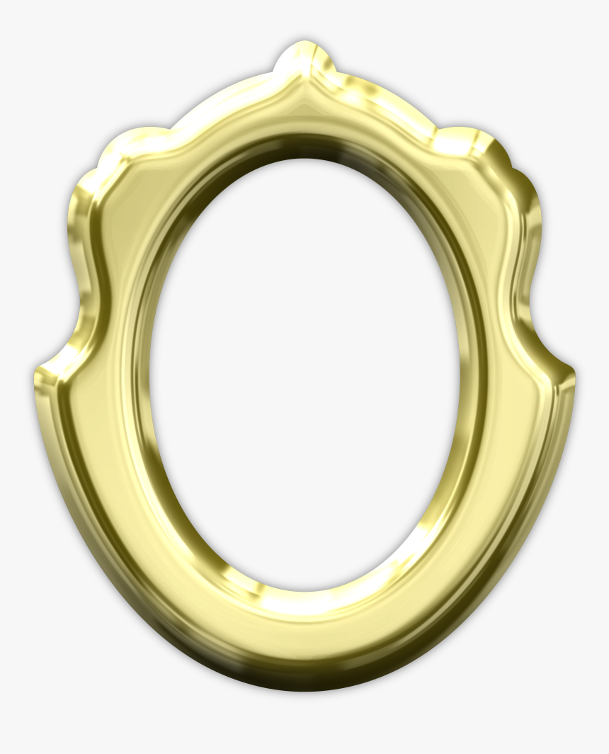 Bingkai Oval Metal Png, Transparent Png, Free Download