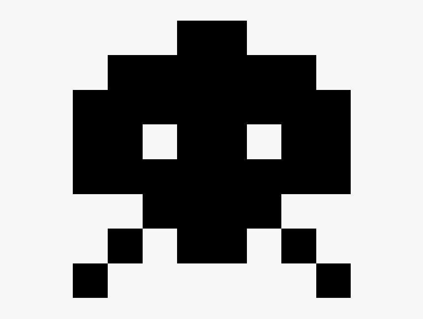 Space Invaders Alien Png Transparent Image - Alien From Space Invaders, Png Download, Free Download
