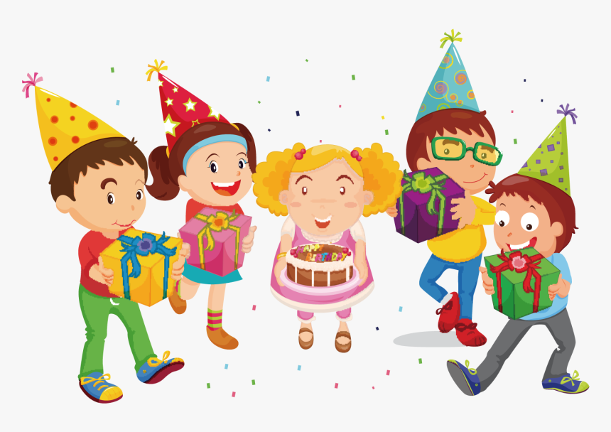 Birthday Hat Clipart Childrens Party - Kids Birthday Party Clipart Png, Transparent Png, Free Download