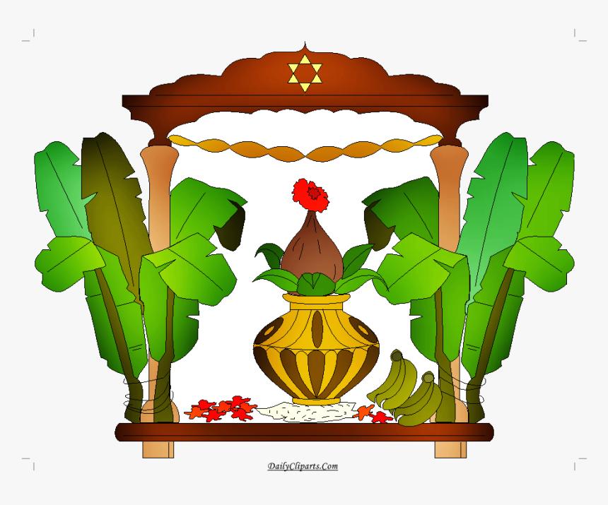 Wedding Kalash Banana Leaves Mandap Clipart Daily Cliparts - Wedding Banana Tree Art, HD Png Download, Free Download