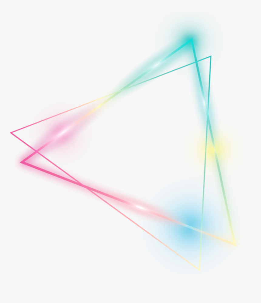 Kpop Triangle Cute Lighting Colorful Triangles Line - Glow Neon Triangle Png, Transparent Png, Free Download