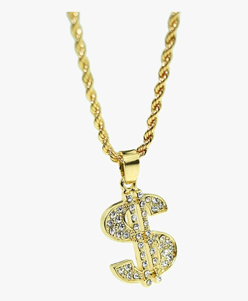 Thug Life Dollar Gold Chain Png High-quality Image - Thug Life Chain Transparent, Png Download, Free Download