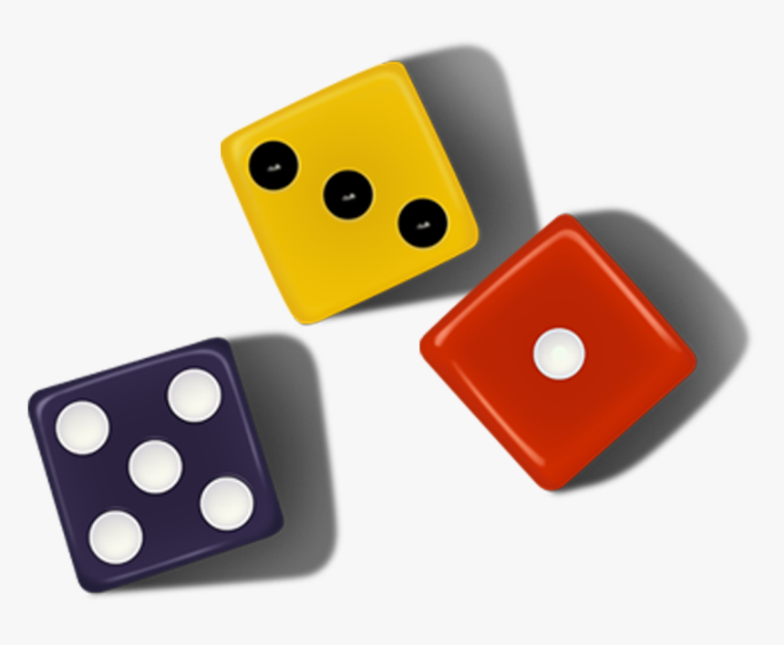 Dice Game Color - Colorful Dice Png, Transparent Png, Free Download