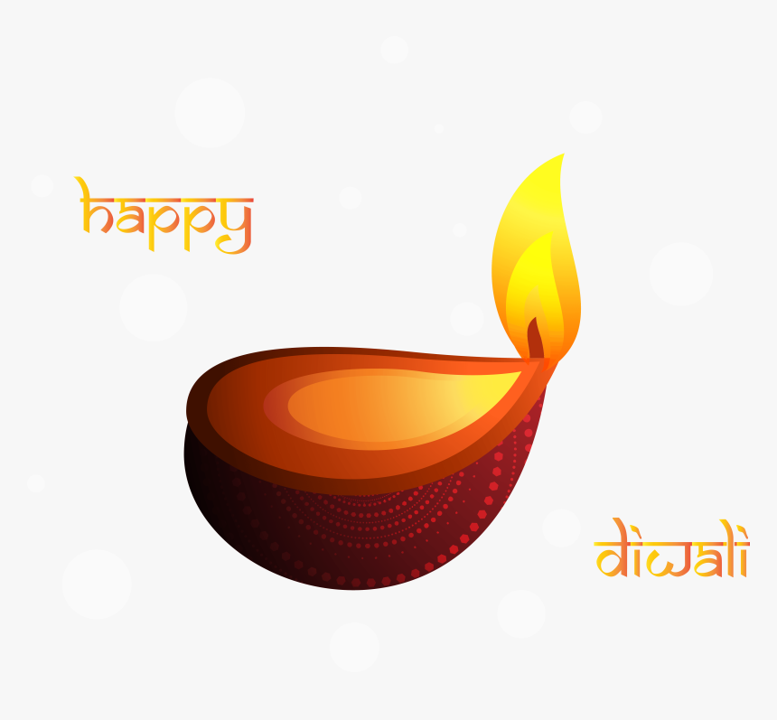 Happy Diwali Png Clipart Decoration - Deepam Clipart, Transparent Png, Free Download