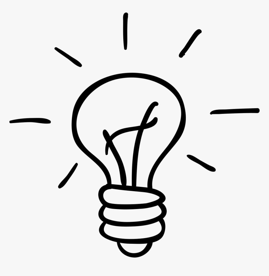 Bulb Drawing Hand Drawn Image Freeuse Stock - Hand Drawn Light Bulb Png, Transparent Png, Free Download