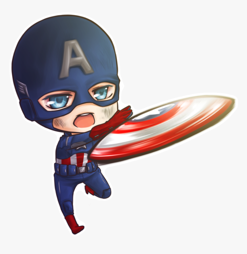 Trade Chibi Captain America By Princeofredroses - Captain America Cute Drawing, HD Png Download, Free Download