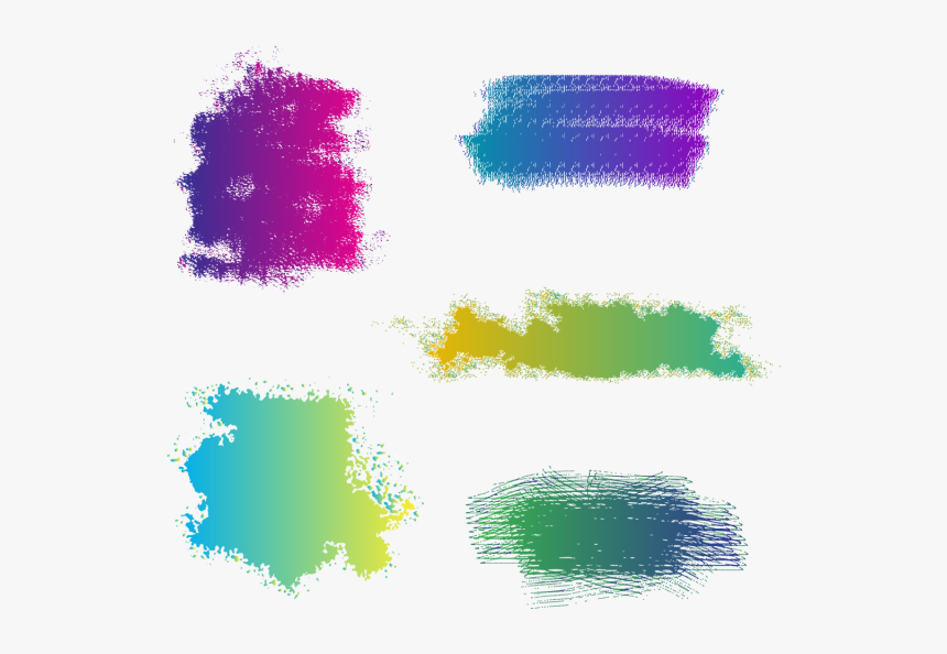 Clip Art Paint Stroke Vector - Brush Stroke Paint Brush Vector Png Colourful, Transparent Png, Free Download