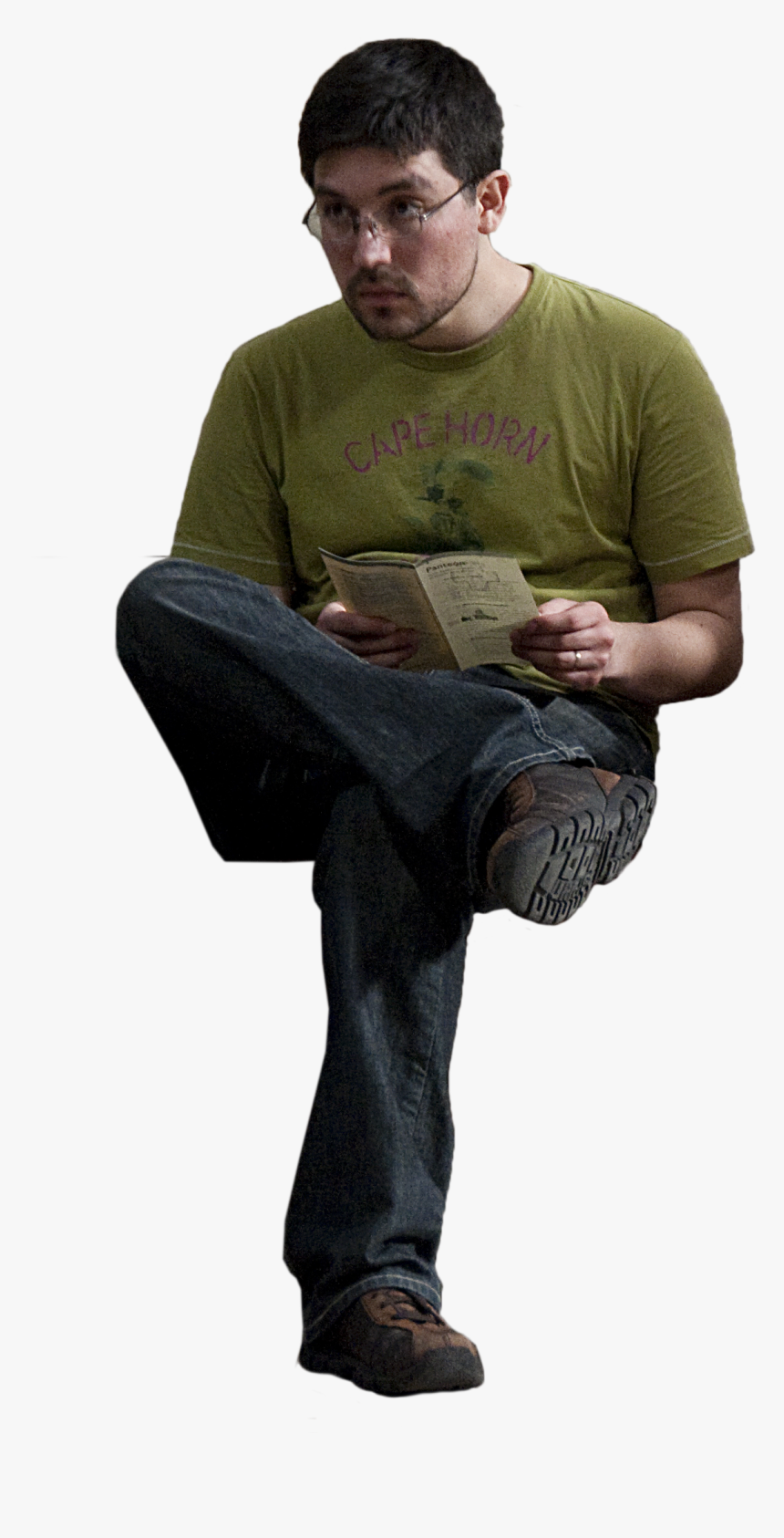 People Sitting Front View Png - Person Sitting Front Png, Transparent Png, Free Download