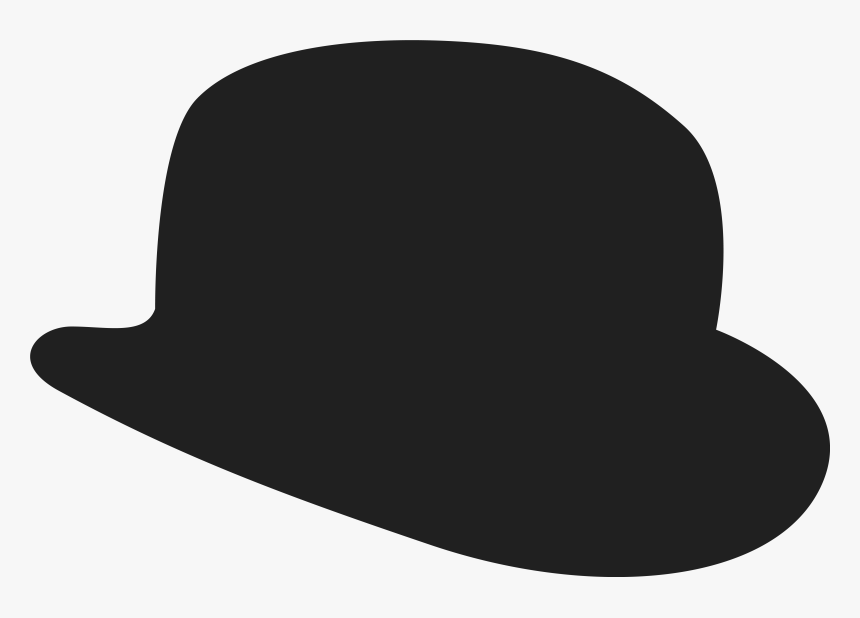 Top Hat Png Silhouette - Bowler Hat Clipart Png, Transparent Png, Free Download