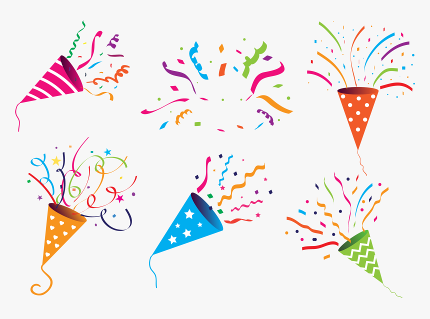 Party Popper Vector Graphics Clip Art Birthday - Transparent Background Party Popper, HD Png Download, Free Download