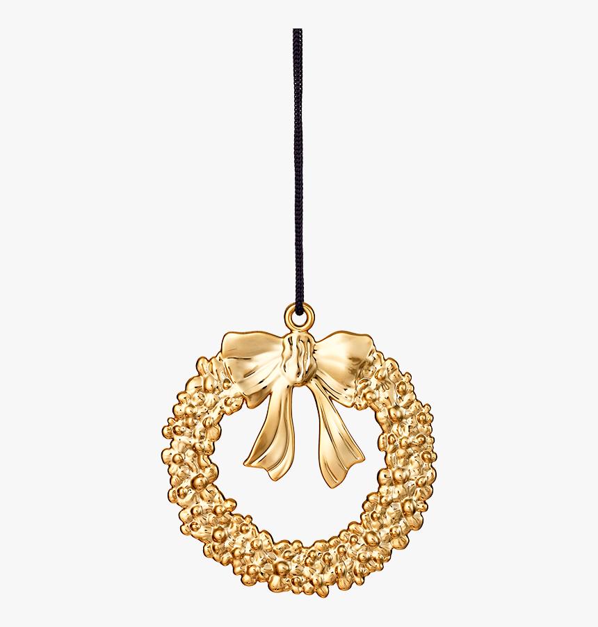 Christmas Wreath H8 Gold Plated Karen Blixen - Gold Metal Christmas Wreath, HD Png Download, Free Download