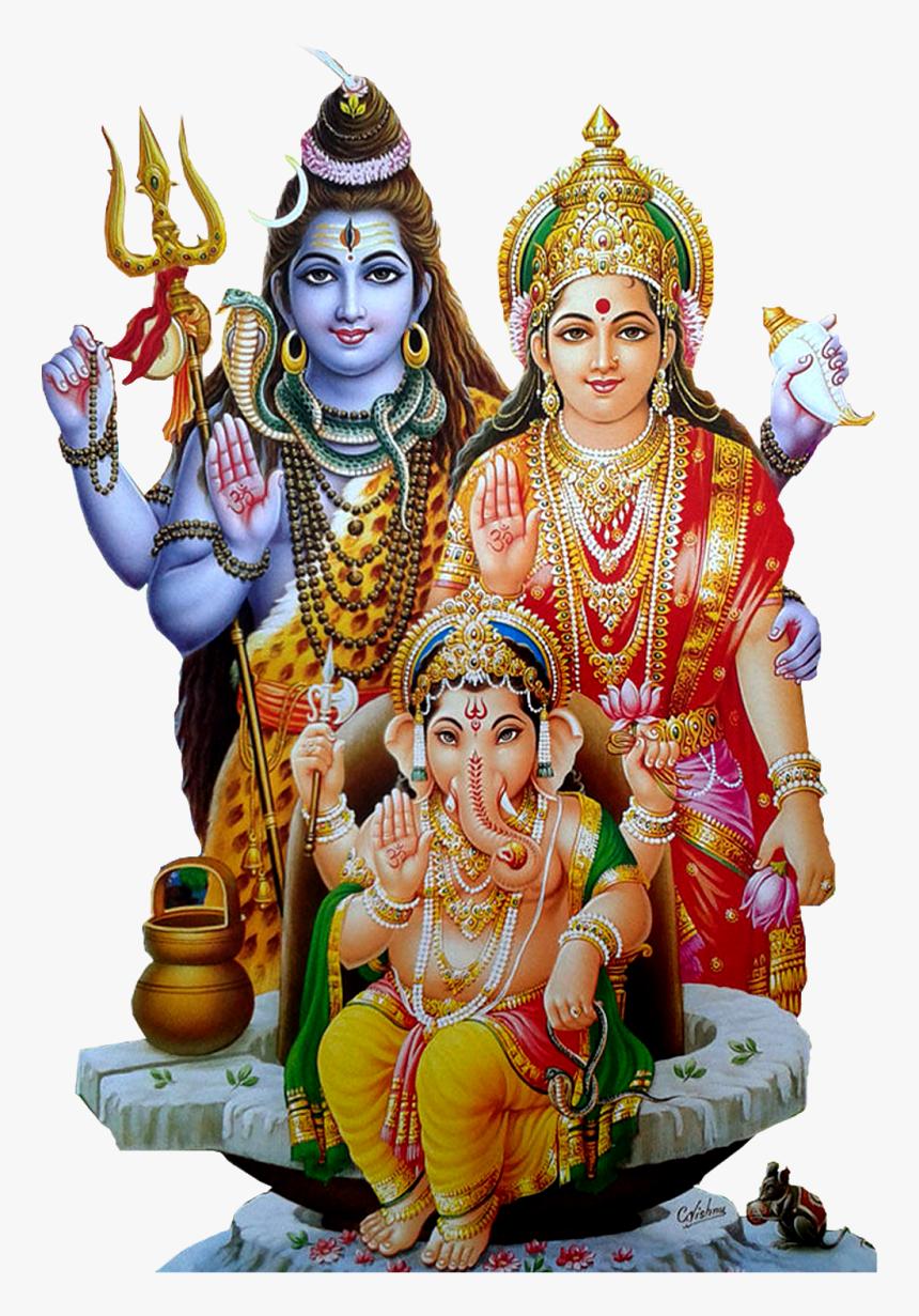 Shiv Parvati Ganesh Png, Transparent Png, Free Download