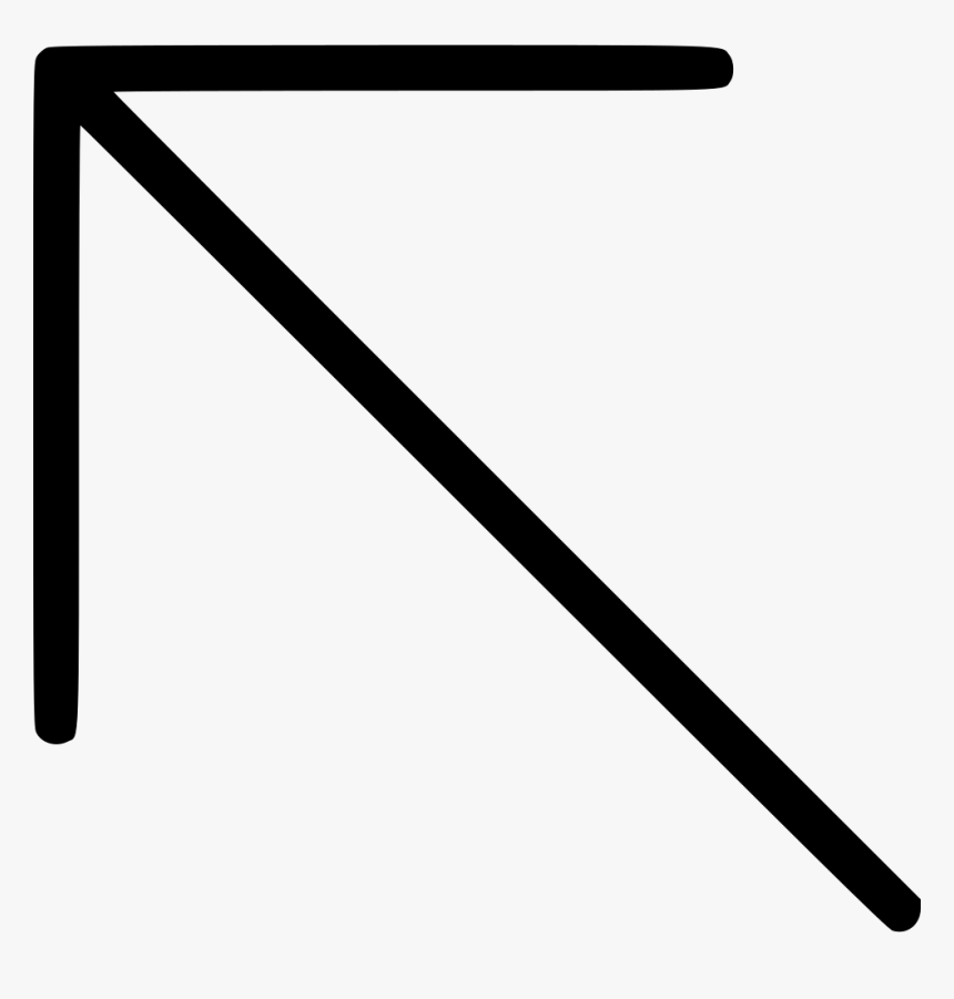 Diagonal North West Up Left Arrow - Arrow Diagonal Up To The Left, HD Png Download, Free Download