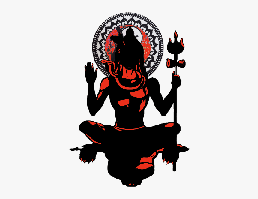 Silhouette At Getdrawings Com - Lord Shiva Vector Png, Transparent Png, Free Download