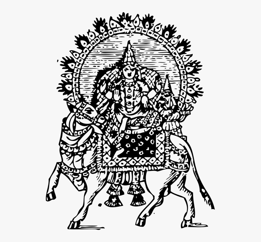 Shiva, Siva, Lord, Bull, Ride, Celestial, Vehicle - Shiva, HD Png Download, Free Download