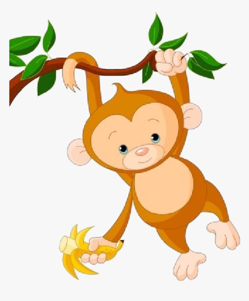 Cute Monkey Png - Baby Monkey Clip Art, Transparent Png, Free Download