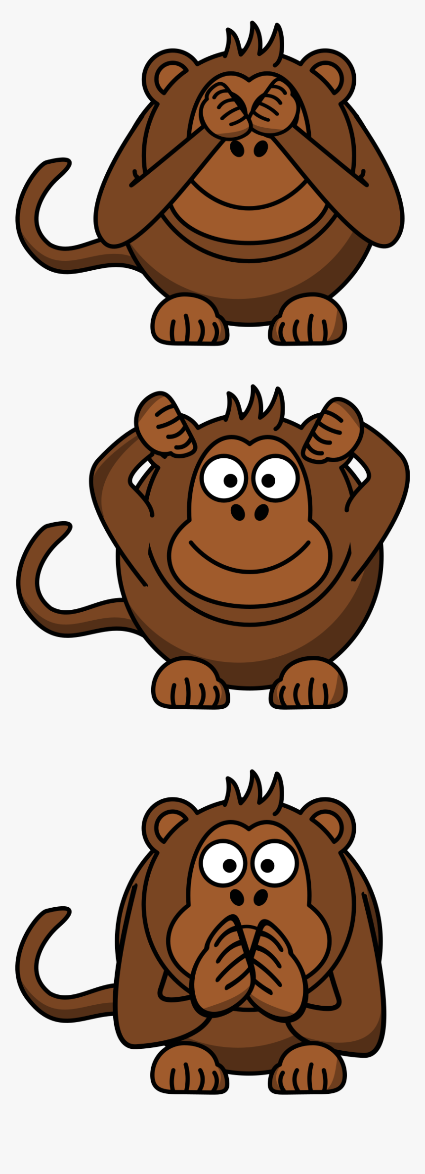 See/hear/speak No Evil Monkey Clip Arts - See No Evil Hear No Evil Speak No Evil Variations, HD Png Download, Free Download