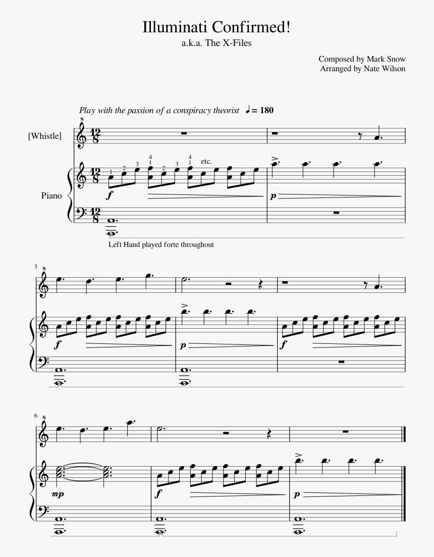 Illuminati Theme Song Piano Sheet Music, HD Png Download, Free Download