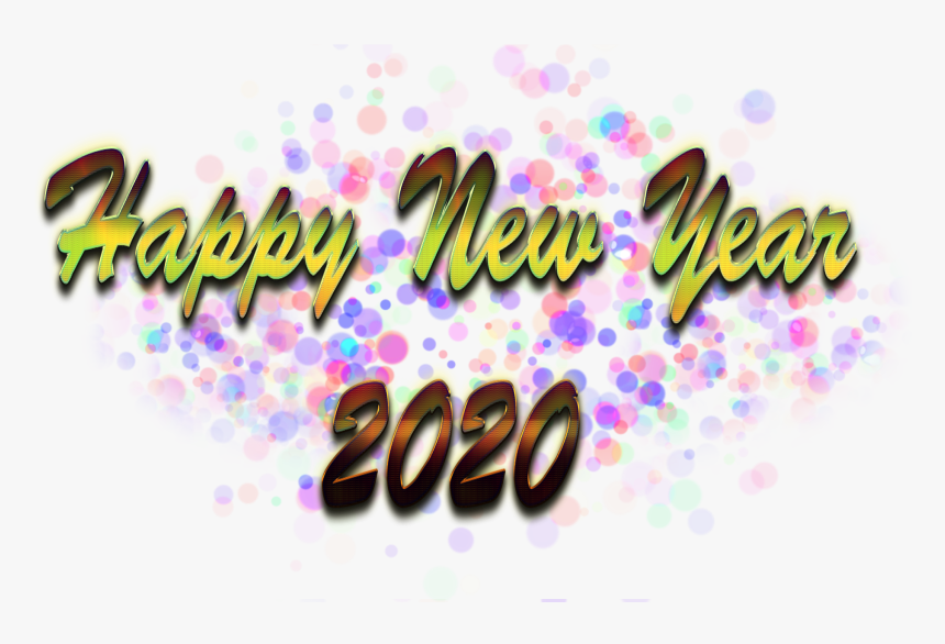 Happy New Year Png Image 2020 Png Background Calligraphy