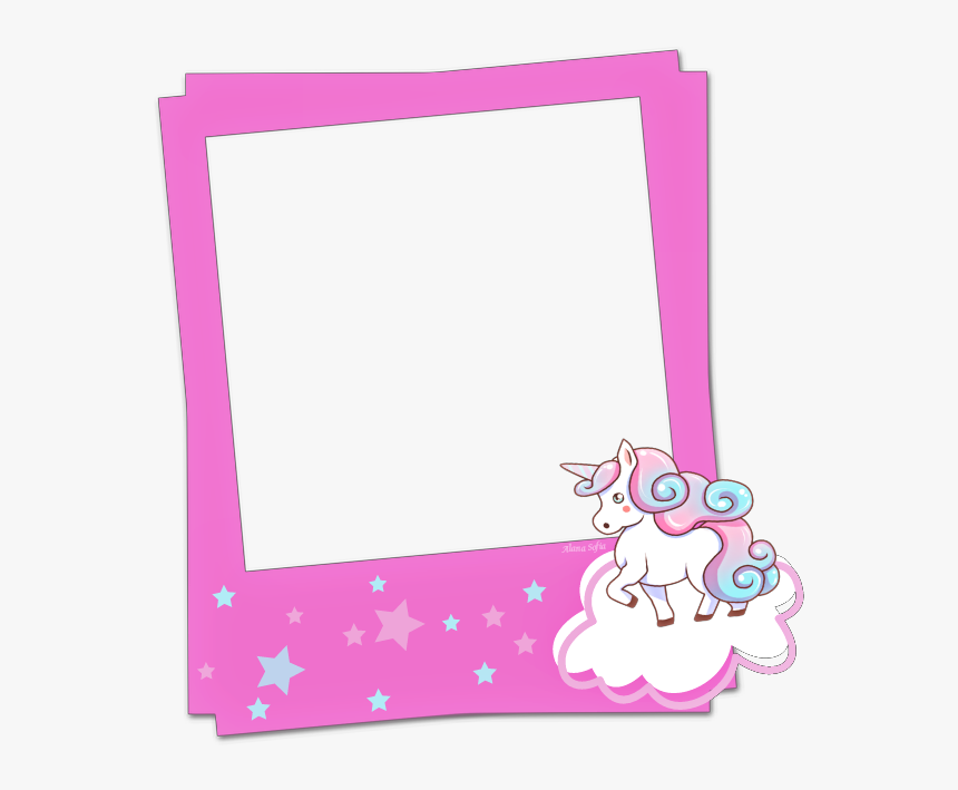 Transparent Polaroid Picture Clipart - Unicorn Frame Clipart, HD Png Download, Free Download