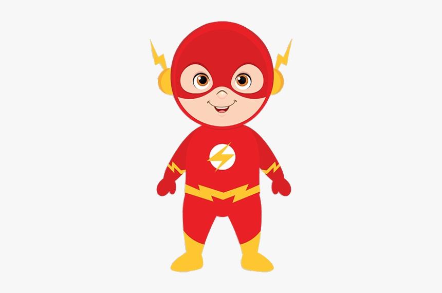 Superhero Heroes Heroinas Dibujos Flash Clipart Free - Flash Kid Clipart, HD Png Download, Free Download