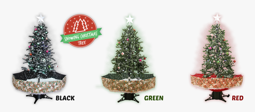 Snowing Christmas Tree - Christmas Ornament, HD Png Download, Free Download