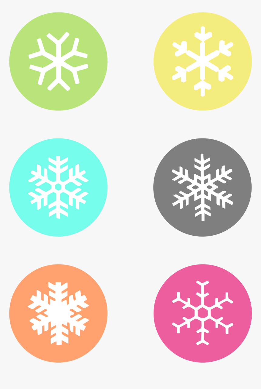 Snowflake Label Cliparts - Snowflake Gift Tag Printable, HD Png Download, Free Download