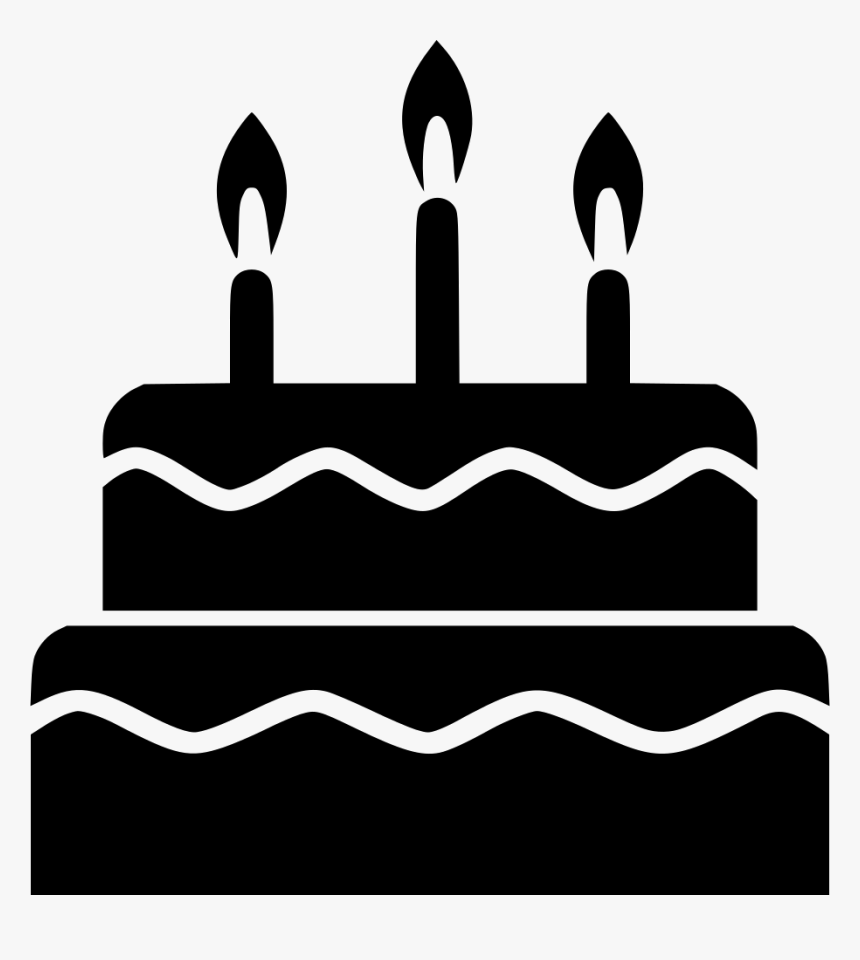 Cake Party Tier Candle Birthday Cake Vector Icon Hd Png Download Kindpng