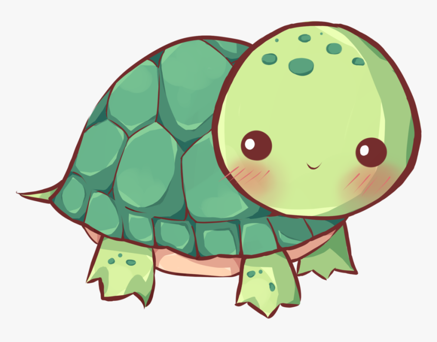 Sea Turtle Drawing For Girls Cuteness - Cute Turtle Drawing, HD Png Download, Free Download