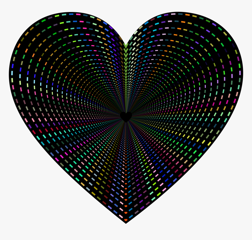 Dashed Line Art Heart Tunnel Clip Arts - Clip Art, HD Png Download, Free Download