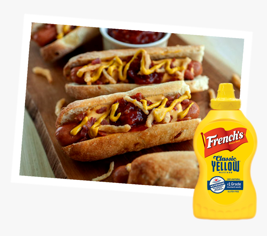 Bacon Cheddar Hot Dog - French's Mustard, HD Png Download, Free Download