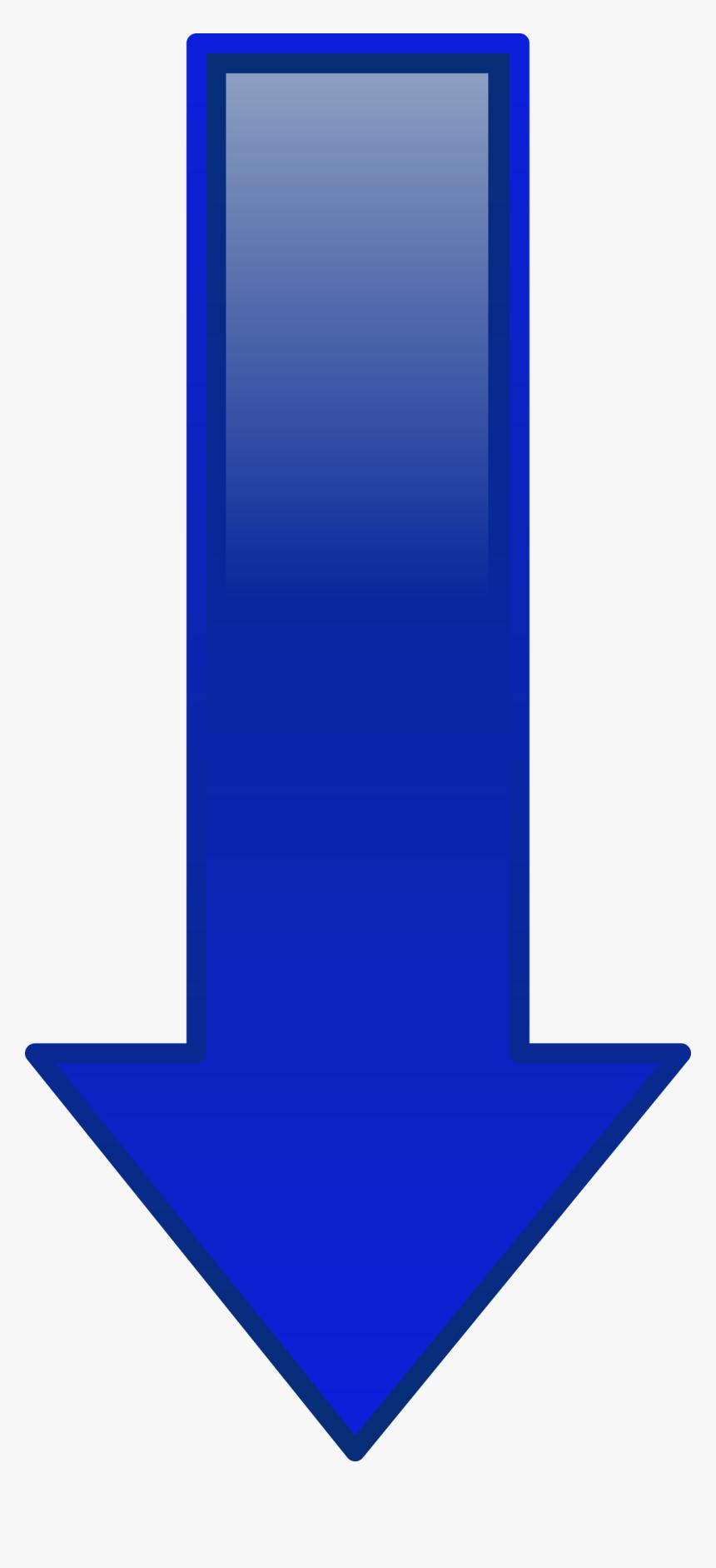 Arrow Down Blue Clip Arts - Clip Art Blue Arrow Down, HD Png Download, Free Download
