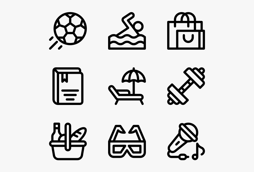 Hobbies Free Time Design Icons Vector Hd Png Download Kindpng
