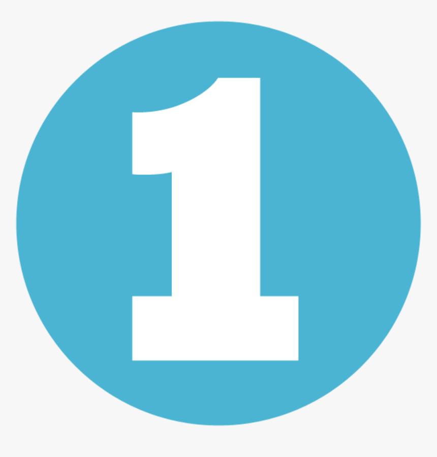 Circle Blue Number 1 Png, Transparent Png, Free Download