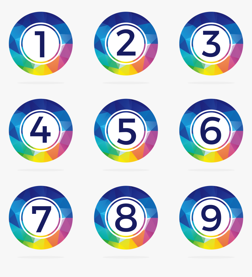 Transparent Number 1 Icon Png - Numbers Icon Png, Png Download, Free Download