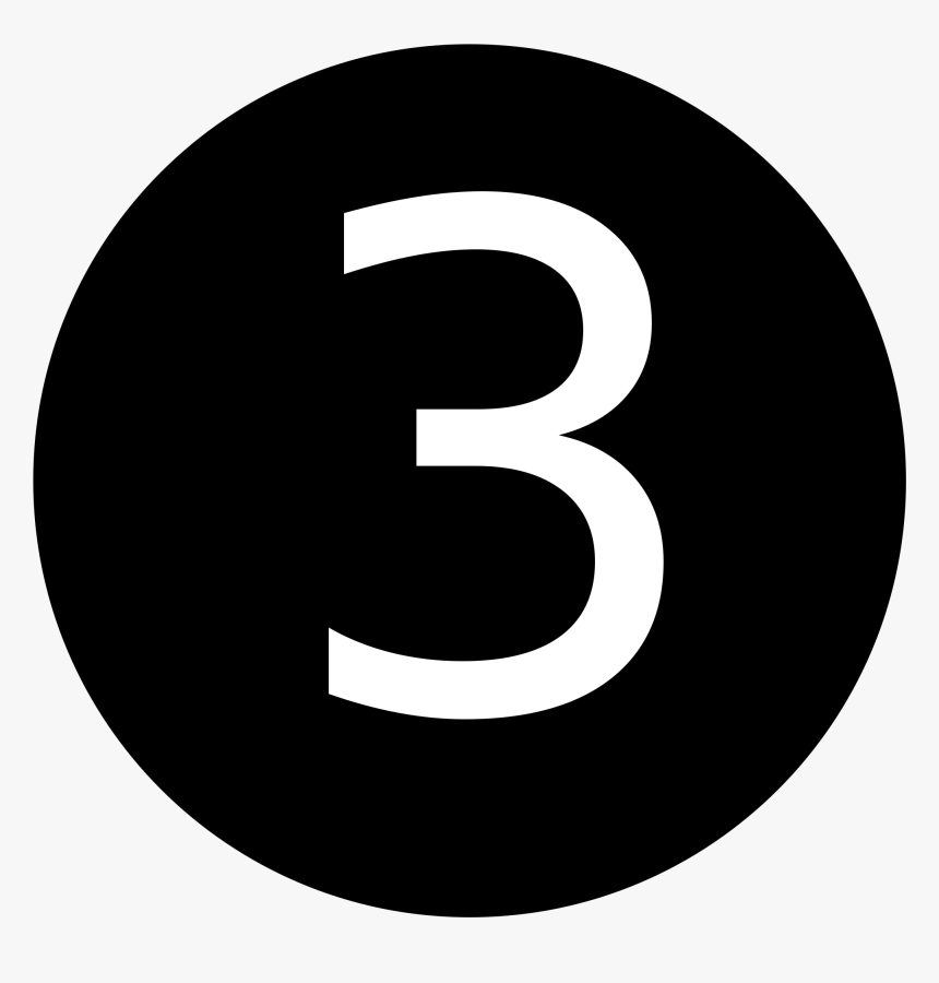 Number 3 In Circle, HD Png Download, Free Download