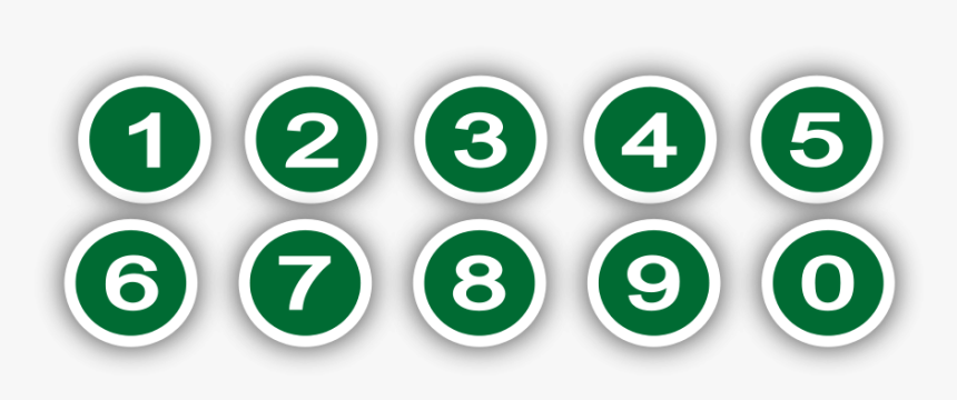 Images Of Numbers Clipart Clipart - Numbers In Circles Png, Transparent Png, Free Download